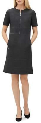 Lafayette 148 New York Demi Partial-Zip Paneled Dress