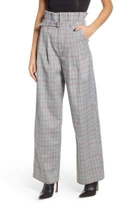 ENGLISH FACTORY High Waist Plaid Pants