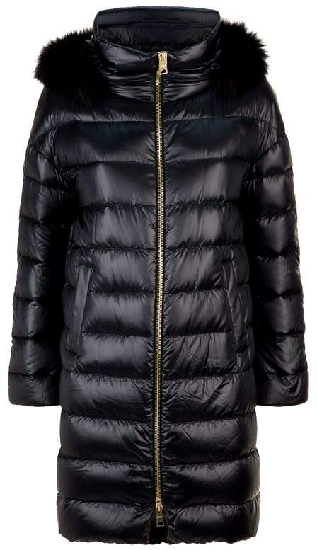 Fur Trim Cocoon Coat