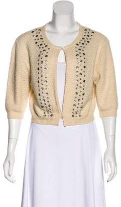 Marc Jacobs Embellished Crew Neck Cardigan