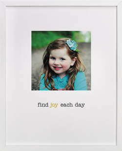 Find Joy in Each Day Children's Custom Photo Art Print