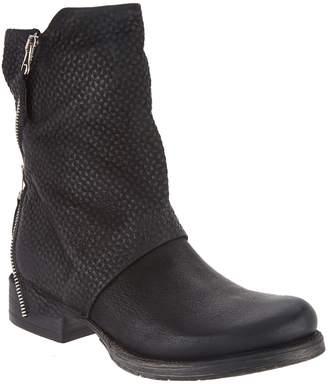 Miz Mooz Leather Zip Mid-Boots - Nugget