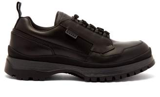 Prada Exaggerated Sole Leather Shoes - Mens - Black