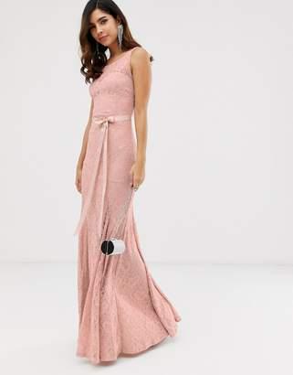 1e84a6d161d City Goddess all over lace maxi dress with belt detail