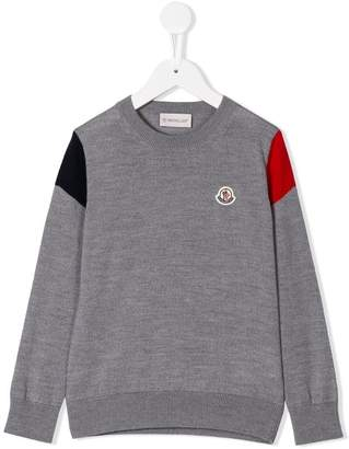 Moncler logo patch jumper