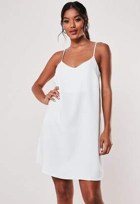 Missguided White Crepe Cami Shift Dress