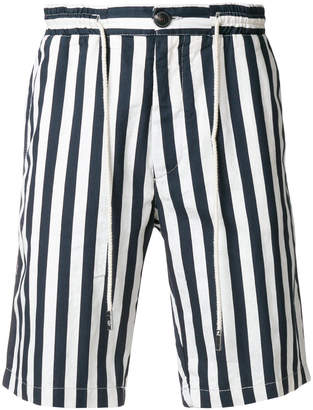 Eleventy striped bermuda shorts