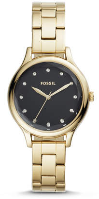 Fossil Laney Three-Hand Gold-Tone Stainless Steel Watch