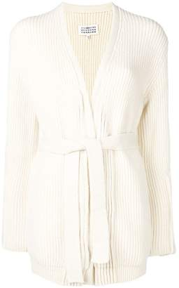 Maison Margiela ribbed knitted wrap cardigan