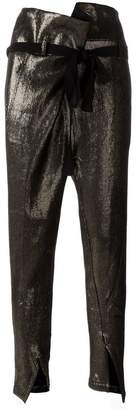 Ann Demeulemeester bow waist tapered trousers