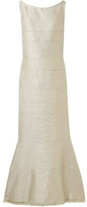 Oscar de la Renta Sequin-Embellished Lurex Gown