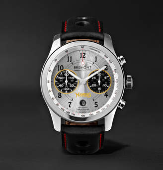 Norton Co. Bremont V4 Automatic Chronometer 43mm Stainless Steel And Leather Watch