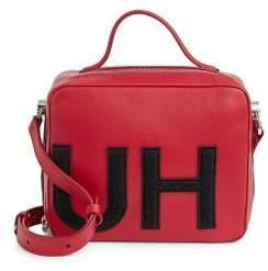 HUGO Mayfair Leather Logo Box Bag