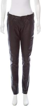 Genetic Los Angeles Low-Rise Leather Pants