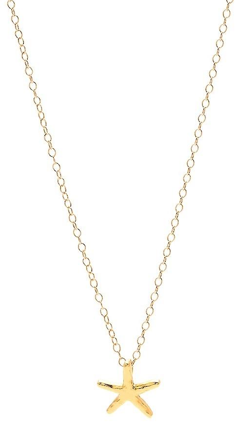 Gorjana Starfish Necklace in Gold