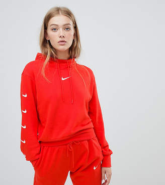 aa85c55cea77 Nike Exclusive To Asos Red Swoosh Pack Cropped Hoodie