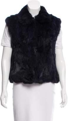 Adrienne Landau Point-Collar Fur Vest