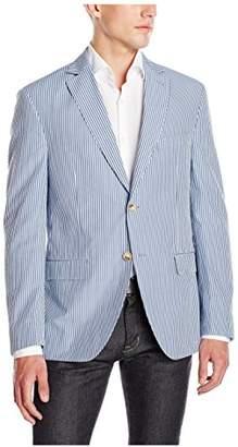 Franklin Tailored Men's Modern Seersucker Stripe Newton Sport Coat