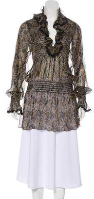Anna Sui Semi-Sheer Long Sleeve Tunic