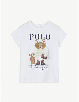 Ralph Lauren Winter polo bear cotton T-shirt 3-24 months