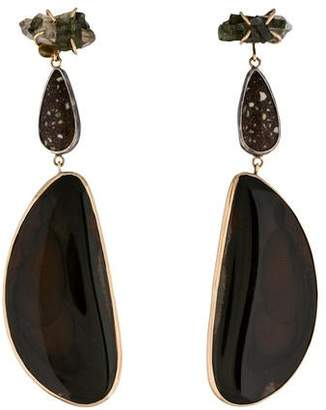 Melissa Joy Manning Three Stone Drop Earrings