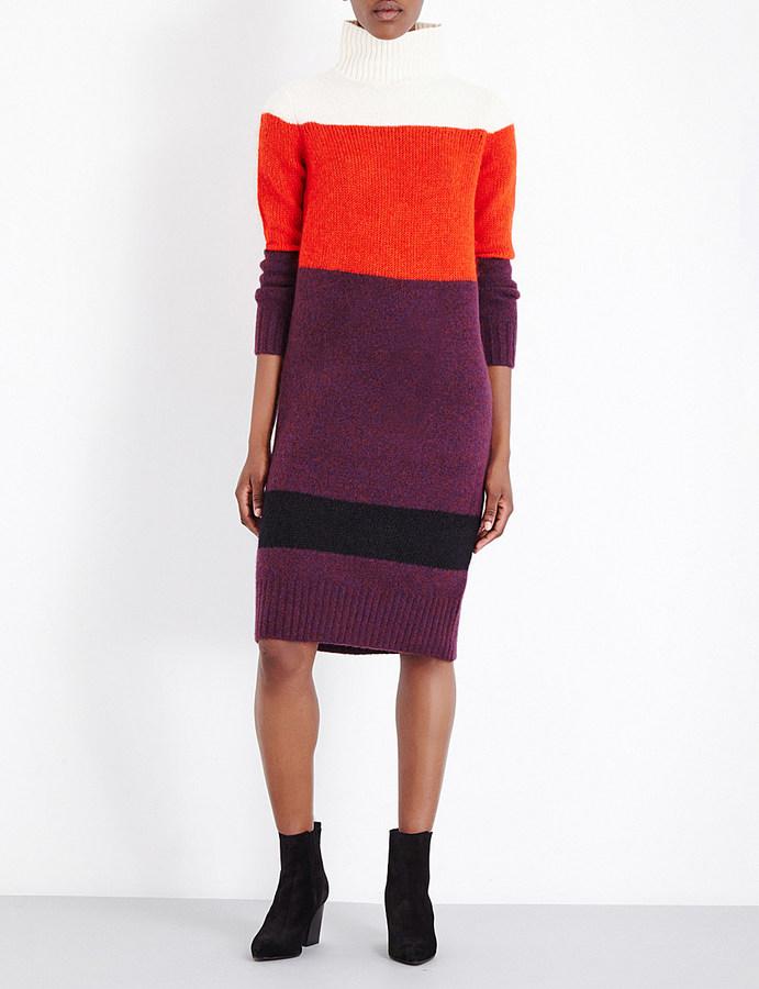 RAG & BONE Britton contrast knitted dress