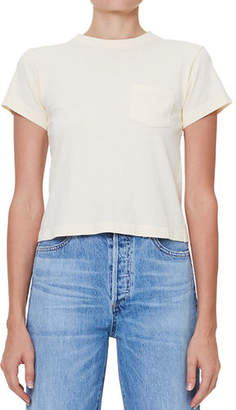 Citizens of Humanity Grace Short-Sleeve Cropped Pocket Tee