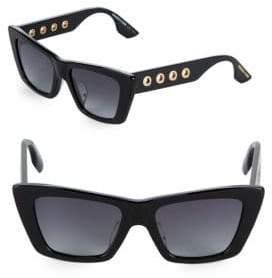 McQ Gradient 52MM Rectangle Sunglasses