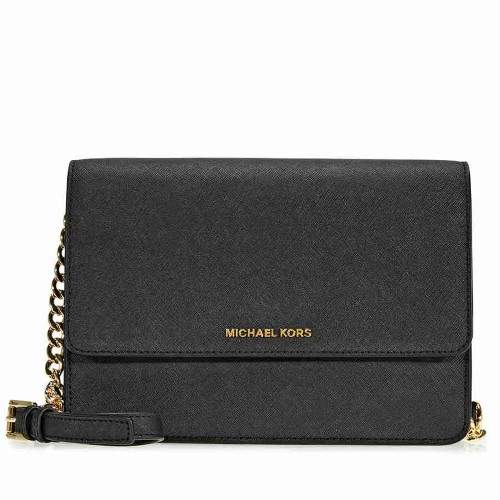 Michael Kors Daniela Large Crossbody- Black - BLACKS - STYLE