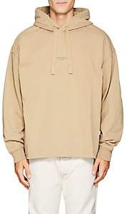 Acne Studios Men's Logo Cotton French Terry Hoodie-Beige, Tan