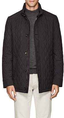 Luciano Barbera Men's Diamond-Quilted Tech Jacket