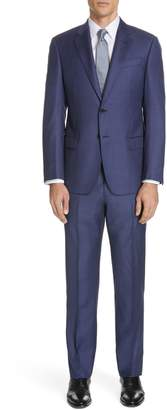 Emporio Armani Trim Fit Plaid Wool Suit