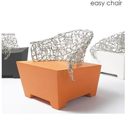 Brand Van Egmond - sculpture on socle easy chair by brand von egmond