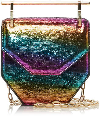 M2Malletier Mini Amor Fati Metallic Leather Bag
