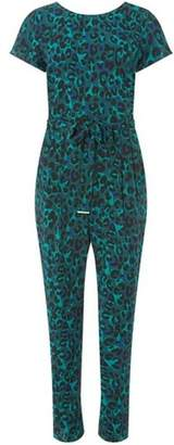 Dorothy Perkins Womens Green Animal Print Jumpsuit