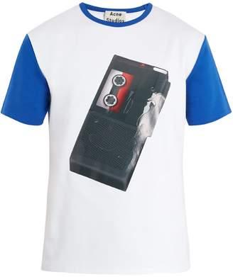 Acne Studios Nite tape recorder-print cotton T-shirt