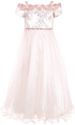 Bonnie Jean Big Girls Cold Shoulder Ball Gown