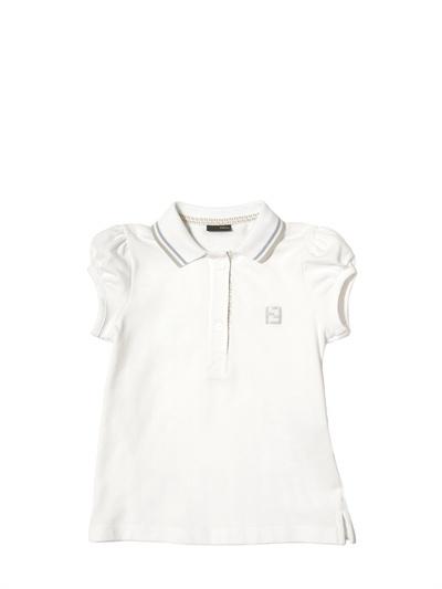 Fendi Piquet Cotton Polo