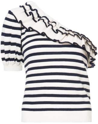 Ulla Johnson Laila striped asymmetric top