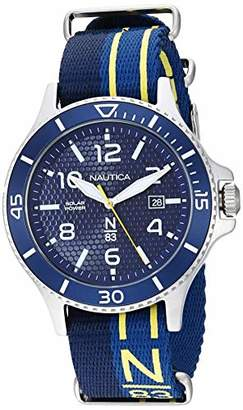 Nautica N83 Men's NAPCBS902 Cocoa Beach Solar Fabric Slip-Thru Strap Watch