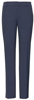 Banana Republic Petite Avery Straight-Fit Plaid Machine-Washable Italian Wool Ankle Pant