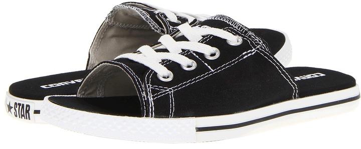 Converse Chuck Taylor All Star Cutaway EVO Slip-On Ox (Black) - Footwear