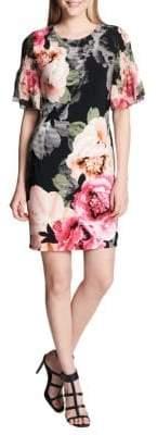 Calvin Klein Shirred Floral Sheath Dress