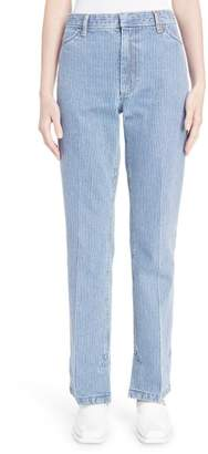 Toga Stripe Straight Leg Jeans