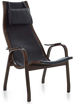 Global Views Midcentury Accent Chair - Black Leather