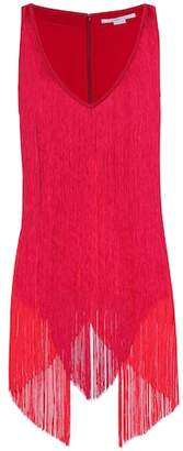 Stella McCartney Fringed crêpe top