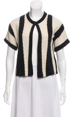 Mayle Metallic-Accented Striped Cardigan