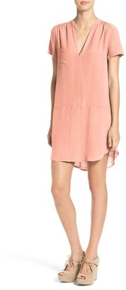 Women's Lush Split Neck Shift Dress $46 thestylecure.com