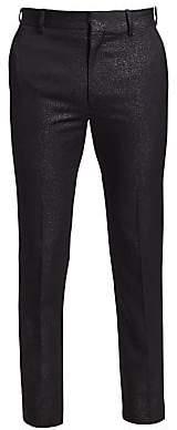 Alexander McQueen Men's Glitter Wool Trousers