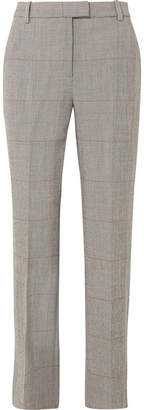 3.1 Phillip Lim Checked Wool-blend Straight-leg Pants - Gray